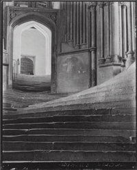 Frederick H. Evans (British, 1853-1943) A Sea of Steps, Wells Cathedral, Steps to Chapter House , 1903<