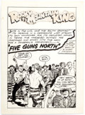"""Original Comic Art:Complete Story, Colin Andrew (attributed) Rocky Mountain King Western Comic (nn): """"Five Guns North"""" Complete 7-Page Story Original... (Total: 7 Original Art)"""