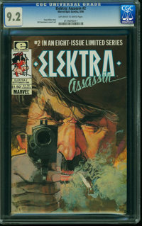 Elektra Assassin #2 (Marvel/Epic Comics, 1986) CGC NM- 9.2 OFF-WHITE TO WHITE pages