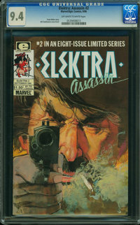 Elektra Assassin #2 (Marvel/Epic Comics, 1986) CGC NM 9.4 OFF-WHITE TO WHITE pages
