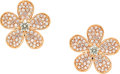 Estate Jewelry:Earrings, Colored Diamond, Rose Gold Earrings . ...