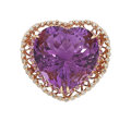 Estate Jewelry:Rings, Amethyst, Diamond, Pink Sapphire, Rose Gold Ring. ...