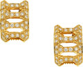 Estate Jewelry:Earrings, Diamond, Gold Earrings, Cartier . ...