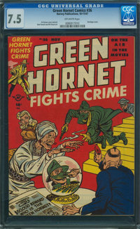 Green Hornet Comics #36 (Harvey, 1947) CGC VF- 7.5 Off-white pages