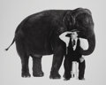 Photographs, Sid Avery (American, 1918-2002). Buster Keaton, What Elephant?, 1964. Gelatin silver, printed later. 16 x 19-3/4 inches ...