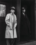Photographs, Max Yavno (American, 1911-1985). Two Chinese Men in Doorway, 1947. Gelatin silver, printed later. 19-1/4 x 15-1/4 inches...