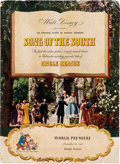 Animation Art:Poster, Song of the South Premiere Program (Walt Disney, 1946)....
