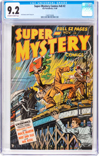 Super-Mystery Comics V8#2 (Ace, 1948) CGC NM- 9.2 Off-white to white pages