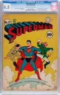 Golden Age (1938-1955):Superhero, Superman #17 (DC, 1942) CGC FN+ 6.5 Off-white to white pages....