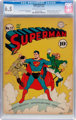 Superman #17 (DC, 1942) CGC FN+ 6.5 Off-white to white pages