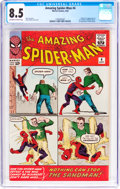 Silver Age (1956-1969):Superhero, The Amazing Spider-Man #4 (Marvel, 1963) CGC VF+ 8.5 Off-white to white pages....