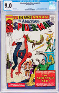 Silver Age (1956-1969):Superhero, The Amazing Spider-Man Annual #1 (Marvel, 1964) CGC VF/NM 9.0 Off-white pages....