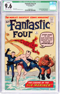 Silver Age (1956-1969):Superhero, Fantastic Four #4 Cover Married (Marvel, 1962) CGC Qualified NM+ 9.6 Off-white to white pages....