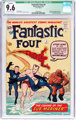 Fantastic Four #4 Cover Married (Marvel, 1962) CGC Qualified NM+ 9.6 Off-white to white pages