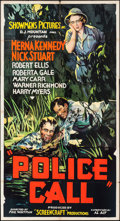 """Movie Posters:Crime, Police Call (Showmens Pictures, 1933). Folded, Fine/Very Fine.Three Sheet (41"""" X 77""""). Crime.. ..."""