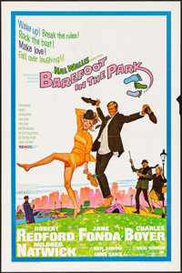 """Barefoot in the Park (Paramount, 1967). Folded, Fine/Very Fine. One Sheet (27"""" X 41""""). Robert McGinnis Artwork..."""