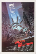 "Movie Posters:Science Fiction, Escape from New York (Avco Embassy, 1981) Folded, Very Fine. One Sheet (27"" X 41""). Barry Jackson Artwork. Science Fiction...."