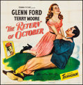 "Movie Posters:Comedy, The Return of October (Columbia, 1948). Folded, Very Fine-. SixSheet (79"" X 79""). Comedy.. ..."