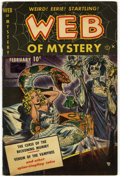 "Golden Age (1938-1955):Horror, Web of Mystery #1 Davis Crippen (""D"" Copy) pedigree (Ace, 1951)Condition: FN-...."
