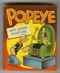 Books:Miscellaneous, Big Little Book #1458 Popeye and Queen Olive Oyl (Whitman, 1949)Condition: FN....
