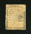 Colonial Notes:Massachusetts, Massachusetts 1779 5s Fine. Some stains and breaks in the paper arenoted....