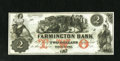Obsoletes By State:New Hampshire, Farmington, NH- Farmington Bank $2 18__. A pleasing remainder that is as original as the day it was printed. The solid, even...