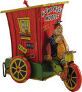 "Antiques:Toys, Wyandotte Toys Humphrey Mobile Wind-up Toy.. Tin litho,8.25"" long x 7.25"" high, Wyandotte maker's mark on top of to..."