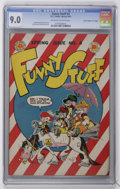 "Golden Age (1938-1955):Funny Animal, Funny Stuff #4 Davis Crippen (""D"" Copy) pedigree (DC, 1945) CGCVF/NM 9.0 Off-white to white pages...."