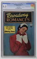 "Golden Age (1938-1955):Romance, Broadway Romances #2 Davis Crippen (""D"" Copy) pedigree (Quality,1950) CGC VF+ 8.5 Off-white pages...."