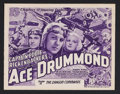 "Movie Posters:Adventure, Ace Drummond (Universal, 1936). Title Lobby Card (11"" X 14"")Chapter 11 -- ""The Dragon Commands."" Adventure Serial. Starring..."