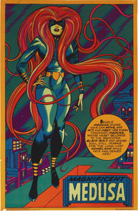 Magnificent Medusa Black Light Poster #4013 (Marvel/Third Eye, 1971)