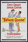 "Movie Posters:Comedy, Father Goose (Universal, 1965). One Sheet (27"" X 41""). Comedy. Starring Cary Grant, Leslie Caron, Trevor Howard, Jack Good a..."