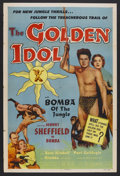 "Movie Posters:Adventure, The Golden Idol (Allied Artists, 1954). One Sheet (27"" X 41"").Adventure. Starring Johnny Sheffield as Bomba the Jungle Boy,..."