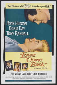 """Lover Come Back (Universal, 1962). One Sheet (27"""" X 41""""). Romantic Comedy. Starring Rock Hudson, Doris Day, To..."""