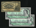 Canadian Currency: , $2.25 Canadian including one 1900 25¢ in VG, with tears and twoCentennial $1s with dates in Choice CU.. ... (Total: 3 notes)