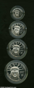 Proof Sets: , 1997-W P$10 Platinum Eagle Set PR68 Deep Cameo Uncertified. From the first year of the series, and the only year that the r... (4 Coins)