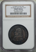 Medals and Tokens, 1860 W. Idler, Getz 50C Copy, B-25K, MS62 NGC. Silver, 33.7mm.. From The Collection of William Rau....