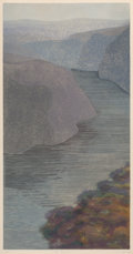 Prints & Multiples, Caroline Stone (American, b. 1936). The Hudson Highlands and The Susquehanna (two works), 1983. Etchings and aquatin... (Total: 2 Items)