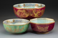 Ceramics & Porcelain, Three Wedgwood Fairyland Lustre Celestial Dragon and Butterfly Bowls, designed by Daisy Makeig-Jones... (Total: 3 Items)