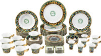 Versace Set of 72: Gold Ivy Plateware Condition: 1