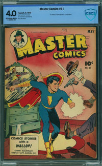Master Comics #61 - CBCS CERTIFIED (Fawcett Publications, 1945) CGC VG 4.0 Off-white to white pages