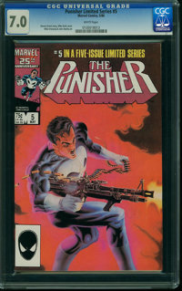 Punisher #5 (Marvel, 1986) CGC FN/VF 7.0 WHITE pages