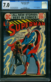 Superman #254 (DC, 1972) CGC FN/VF 7.0 OFF-WHITE TO WHITE pages