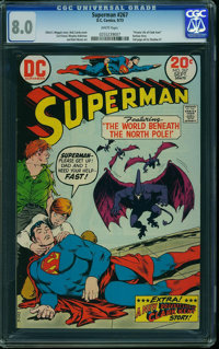 Superman #267 (DC, 1973) CGC VF 8.0 WHITE pages