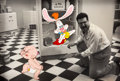 Animation Art:Production Cel, Who Framed Roger Rabbit Baby Herman and Roger Production Cel(Touchstone/Amblin, 1988)....