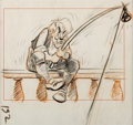 Animation Art:Concept Art, Pinocchio Geppetto Concept Art (Walt Disney, 1940)....