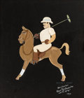 Animation Art:Production Drawing, Mickey's Polo Team Jack Holt Caricature by Joe Grant (WaltDisney, 1936)....