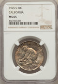 Commemorative Silver, 1925-S 50C California MS65 NGC. NGC Census: (900/563). PCGS Population: (905/555). CDN: $375 Whsle. Bid for problem-free NG...