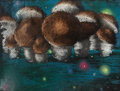Animation Art:Concept Art, Fantasia Nutcracker Suite Mushrooms Concept Painting (WaltDisney, 1940)....