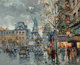 Antoine Blanchard (French, 1910-1988) Place de la République Oil on canvas 18 x 21-1/4 inches (45.7 x 54.0 cm) Si...